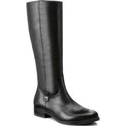Oficerki LASOCKI - OXA-01 Czarny. Czarne buty zimowe damskie marki Kazar, ze skóry, na wysokim obcasie, na sznurówki. Za 329,99 zł.