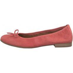 Tamaris Baleriny Damskie Alena 38 Różowe. Czerwone baleriny damskie lakierowane Tamaris, ze skóry, na wysokim obcasie. W wyprzedaży za 179,00 zł.