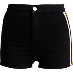 Bermudy damskie: Topshop JONI SIDE STRIPE Szorty jeansowe black denim