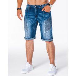 KRÓTKIE SPODENKI MĘSKIE JEANSOWE W121 - NIEBIESKIE. Niebieskie spodenki jeansowe męskie Inny. Za 41,30 zł.
