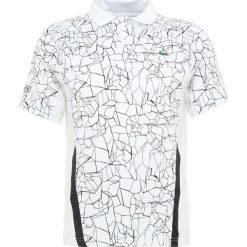 Lacoste Sport TENNIS DJOKOVIC Koszulka sportowa white/black. Białe koszulki sportowe męskie Lacoste Sport, l, z elastanu. Za 419,00 zł.