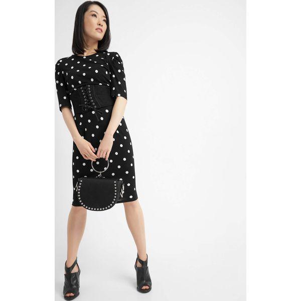 1ba099903f Sukienka midi z bufkami - Czarne sukienki na komunię marki Orsay