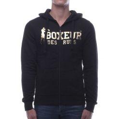 Bejsbolówki męskie: BOXEUR Bluza męska czarno-złota r. M (BXE-4784F)