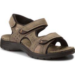 Sandały LANETTI - MS17012-2 Khaki. Brązowe sandały męskie skórzane Lanetti. W wyprzedaży za 79,99 zł.