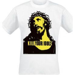 Kill Your Idols T-Shirt biały. Białe t-shirty męskie z nadrukiem Kill Your Idols, xxl, z okrągłym kołnierzem. Za 79,90 zł.