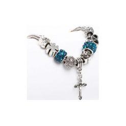 Biżuteria i zegarki damskie: Srebrno-Niebieska Bransoletka Faithful