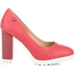 Czółenka na platformie ASPEN. Czerwone buty ślubne damskie vices, na platformie. Za 79,00 zł.