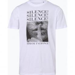 Armani Exchange - T-shirt męski, czarny. Czarne t-shirty męskie z nadrukiem marki Armani Exchange, l, z materiału, z kapturem. Za 229,95 zł.