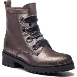Buty zimowe damskie: Trapery TOMMY JEANS - Metallic Cleated Lac EN0EN00339 Steel Grey 039
