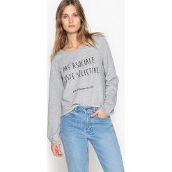 Koszulka marki Confidentielles x La Redoute « Made in France ». Szare t-shirty damskie marki La Redoute Collections, m, z bawełny, z kapturem. Za 146,96 zł.