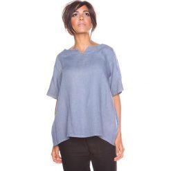 """Bluzki asymetryczne: Lniana koszulka """"Shirane"""" w kolorze szarym"""