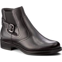 Botki TAMARIS - 1-25002-29 Black 001. Czarne buty zimowe damskie Tamaris, z materiału, na obcasie. W wyprzedaży za 239,00 zł.