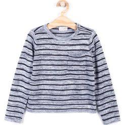 Coccodrillo - Sweter dziecięcy 122-158 cm. Białe swetry dziewczęce marki COCCODRILLO, m, z bawełny, z okrągłym kołnierzem. W wyprzedaży za 29,90 zł.