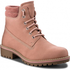 Trapery MARCO TOZZI - 2-26248-31 Rose Comb 554. Czerwone buty zimowe damskie marki Marco Tozzi, z nubiku. W wyprzedaży za 209,00 zł.