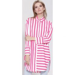 Fuksjowa Koszula Bold Love. Różowe koszule wiązane damskie other, uniwersalny. Za 49,99 zł.