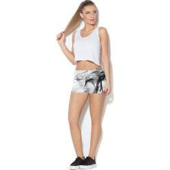 Colour Pleasure Spodnie damskie CP-020 33 biało-czarne r. 3XL/4XL. Białe spodnie sportowe damskie marki Colour pleasure, xl. Za 72,34 zł.