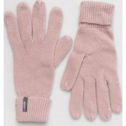 Answear - Rękawiczki. Czerwone rękawiczki damskie ANSWEAR, z dzianiny. Za 39,90 zł.
