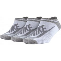 Nike Skarpety Sportswear Striped No-Show Socks (3 Pary) M. Brązowe skarpetki damskie marki Nike. W wyprzedaży za 39,00 zł.