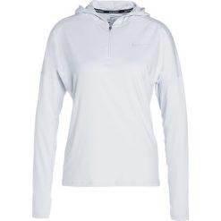 Nike Performance RUNNING HOODY DRY Koszulka sportowa pure platinum/silver. Szare topy sportowe damskie marki Nike Performance, l, z elastanu, z długim rękawem. W wyprzedaży za 207,20 zł.