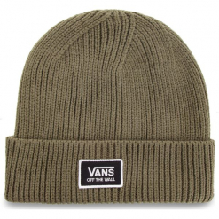 Czapka VANS - Falcon Beanie VA34GWDB0 Dusty Olive. Zielone czapki zimowe damskie marki Vans, z materiału. Za 99,00 zł.