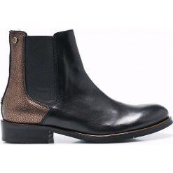Tommy Hilfiger - Botki. Czarne buty zimowe damskie marki Kazar, ze skóry, na wysokim obcasie, na obcasie. W wyprzedaży za 399,90 zł.