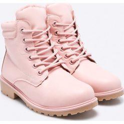 Haily's - Botki. Szare buty zimowe damskie Haily's, z materiału, z okrągłym noskiem, na sznurówki. W wyprzedaży za 69,90 zł.