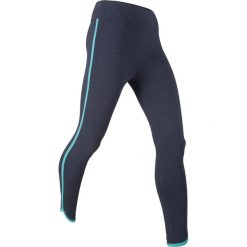 Legginsy sportowe ze stretchem, dł. 7/8, Level 1 bonprix ciemnoniebieski melanż. Niebieskie legginsy damskie do fitnessu marki bonprix, melanż. Za 37,99 zł.