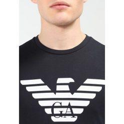 Emporio Armani Tshirt z nadrukiem darkblue. Szare koszulki polo marki Emporio Armani, l, z nadrukiem, z bawełny, z okrągłym kołnierzem. Za 289,00 zł.