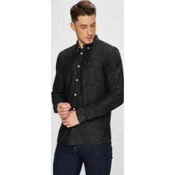 Review - Koszula. Czarne koszule męskie jeansowe Review, l, button down, z długim rękawem. W wyprzedaży za 89,90 zł.