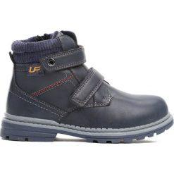 Granatowe Traperki Oppidan. Niebieskie buty zimowe chłopięce Born2be, z materiału, z okrągłym noskiem, na zamek. Za 79,99 zł.