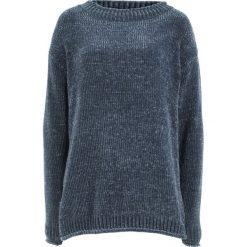 Swetry klasyczne damskie: Sweter z szenili bonprix nocny niebieski