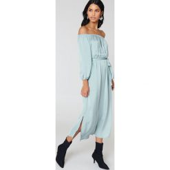 Sukienki hiszpanki: Bardot Sukienka Ithaca – Blue