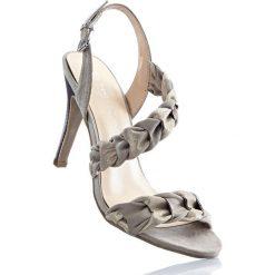Sandały bonprix beżowo-szaro-złoty. Brązowe rzymianki damskie bonprix. Za 44,99 zł.