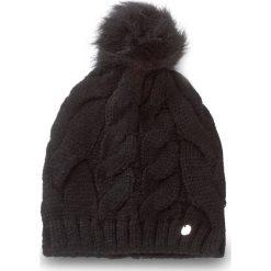 Czapka LIU JO - Cuffia Treccia Ponpo A18226 M0300 Nero 22222. Czarne czapki zimowe damskie marki Liu Jo, z materiału. Za 149,00 zł.
