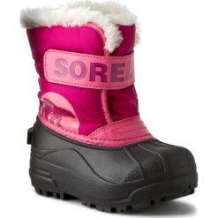 Kozaki dziewczęce: Śniegowce SOREL – Childrens Snow Commander NC1877 Tropic Pink/Deep Blush 652