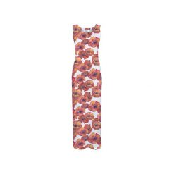 Sukienka CP-025  279. Różowe długie sukienki marki Colour pleasure, l, z dzianiny, na ramiączkach. Za 159,00 zł.