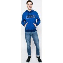 Pepe Jeans - Bluza Woodward. Niebieskie bluzy męskie rozpinane Pepe Jeans, m, z nadrukiem, z bawełny, z kapturem. W wyprzedaży za 219,90 zł.
