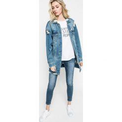 Answear - Jeansy. Niebieskie jeansy damskie rurki ANSWEAR. W wyprzedaży za 129,90 zł.
