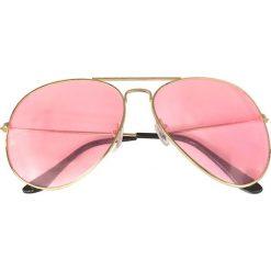 Okulary przeciwsłoneczne bonprix złoty kolor - kolor czerwonego złota. Żółte okulary przeciwsłoneczne damskie aviatory bonprix. Za 34,99 zł.