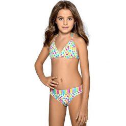 Dziewczęcy kostium kąpielowy Verita. Brązowe stroje dwuczęściowe dziewczęce marki bonprix, m, z nadrukiem, z polaru. Za 100,99 zł.