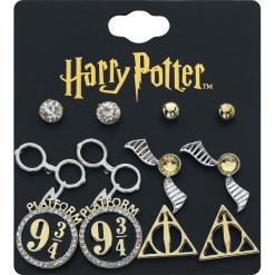 Harry Potter Symbole Kolczyki - Earpin czarny/złoty. Czarne kolczyki damskie Harry Potter, złote. Za 42,90 zł.