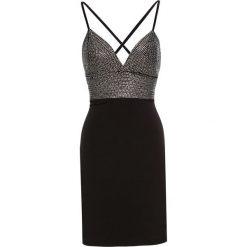 Sukienka na party bonprix czarny. Czarne sukienki koktajlowe marki bonprix, na imprezę, z aplikacjami. Za 149,99 zł.