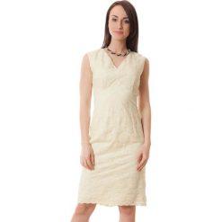 Sukienki hiszpanki: Sukienka w kolorze jasnożółtym