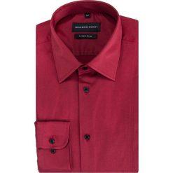 Koszula MICHELE KDAE000336. Czerwone koszule męskie na spinki Giacomo Conti, m, z tkaniny, z klasycznym kołnierzykiem, z długim rękawem. Za 199,00 zł.