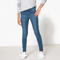 Dżinsy skinny, 10-16 lat. Szare spodnie chłopięce La Redoute Collections, z bawełny, z standardowym stanem. Za 62,96 zł.
