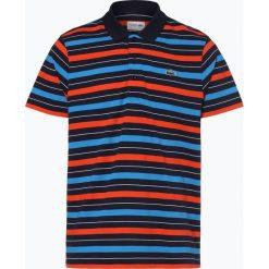 Lacoste - Męska koszulka polo, niebieski. Szare koszulki polo marki Lacoste, z bawełny. Za 349,95 zł.