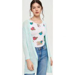 Swetry damskie: Dzianinowy kardigan – Zielony