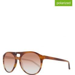 Okulary przeciwsłoneczne męskie: Okulary męskie w kolorze brązowym