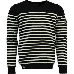 """Swetry męskie: Sweter """"Frontal"""" w kolorze biało-czarnym"""