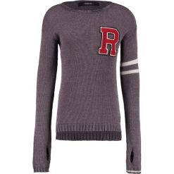 Swetry klasyczne męskie: Replay Sweter anthracite